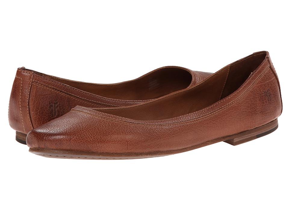 Frye - Carson Ballet (Cognac Leather) Women's Flat Shoes