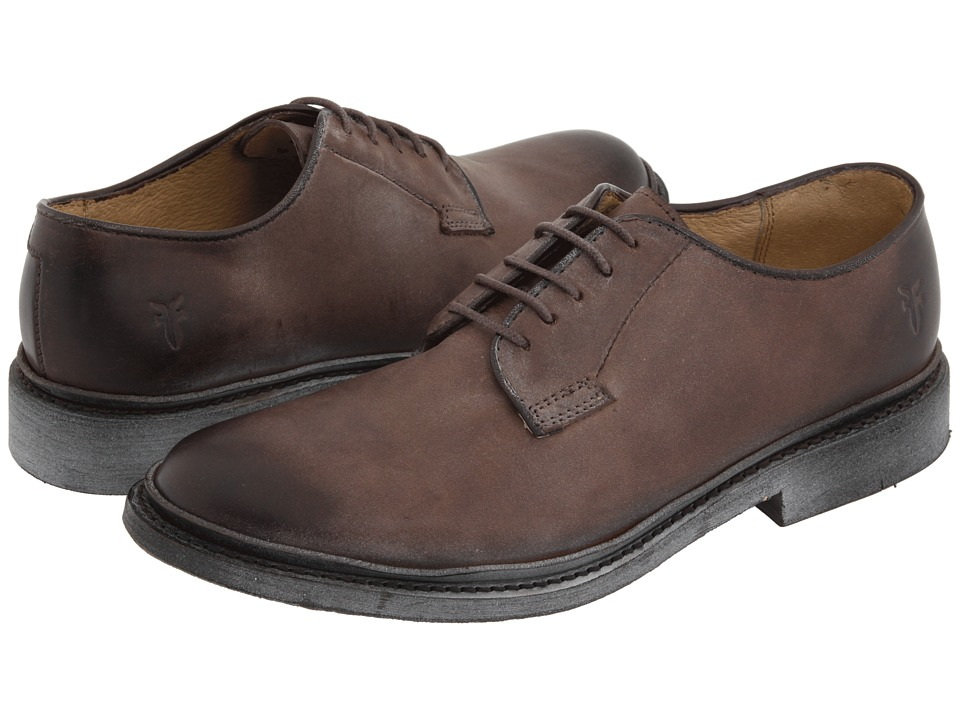 Frye - James Oxford (Dark Brown Vintage Leather) Women's Lace up casual Shoes