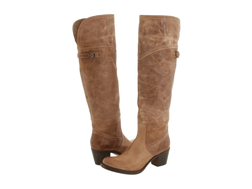 Frye - Jane Tall Cuff (Tan Burnished Leather) Women's Pull-on Boots