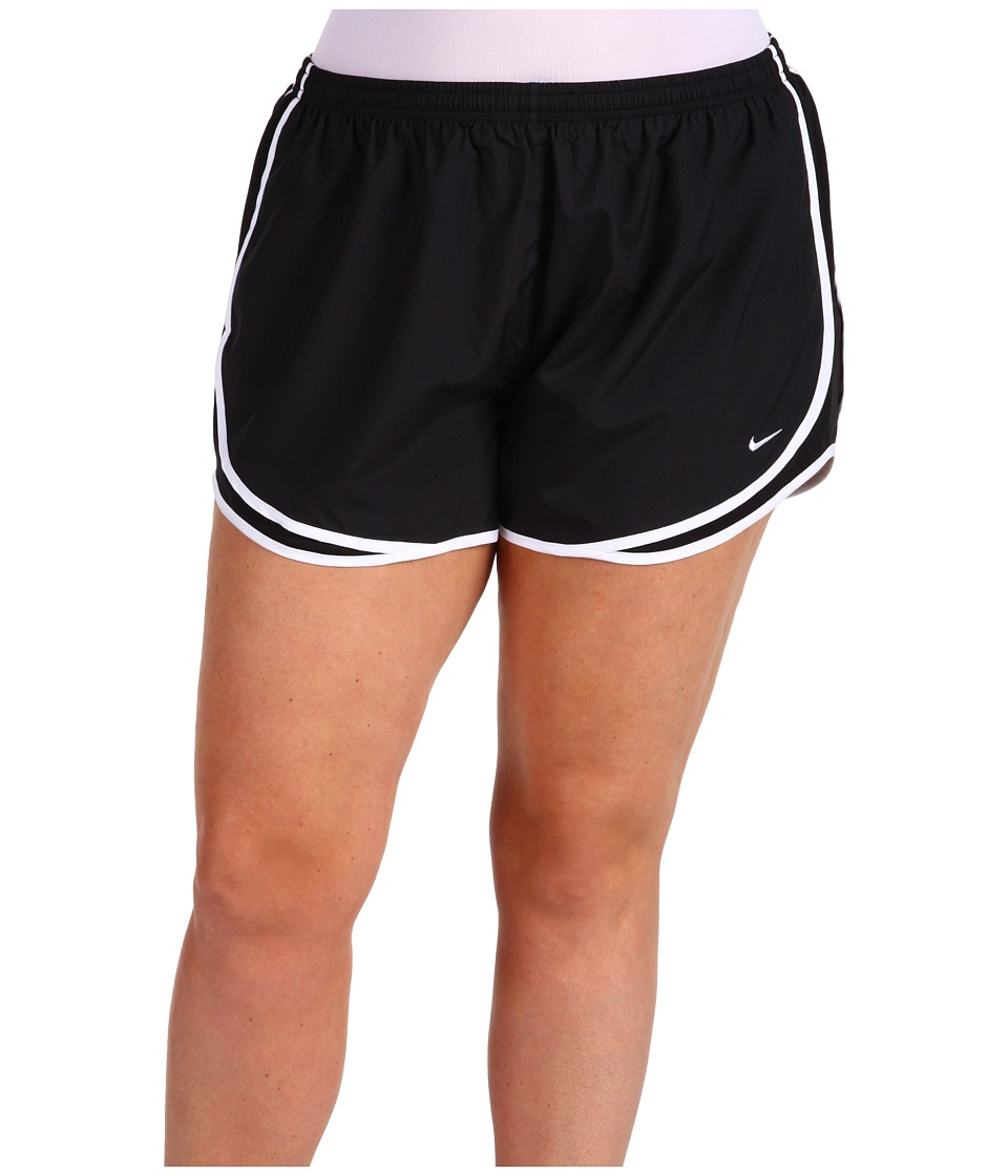 Nike - Dry Tempo Running Short (Size 1X-3X) (Black/Black/White/(White)) Women's Shorts