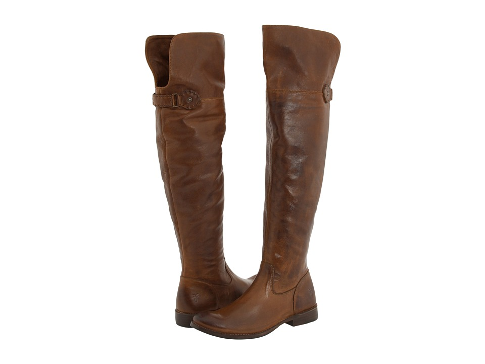 Frye - Shirley Over-The-Knee Riding (Brown Leather) Women's Pull-on Boots