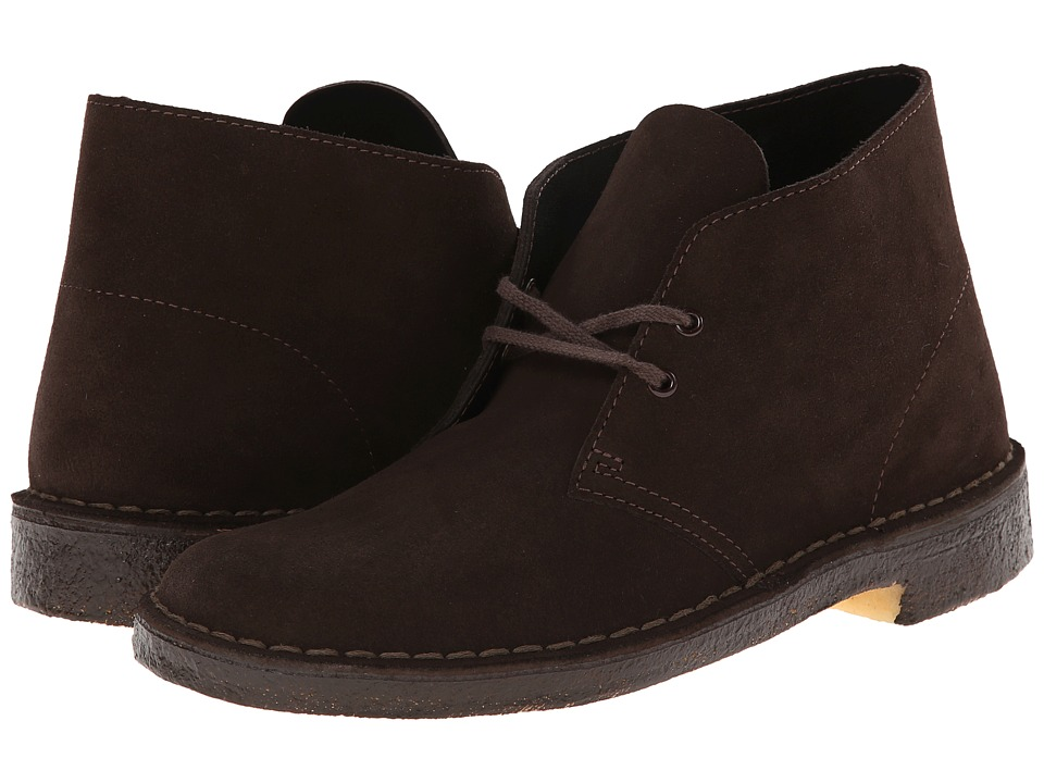 Clarks - Desert Boot (Brown Suede/Brown) Men's Lace-up Boots
