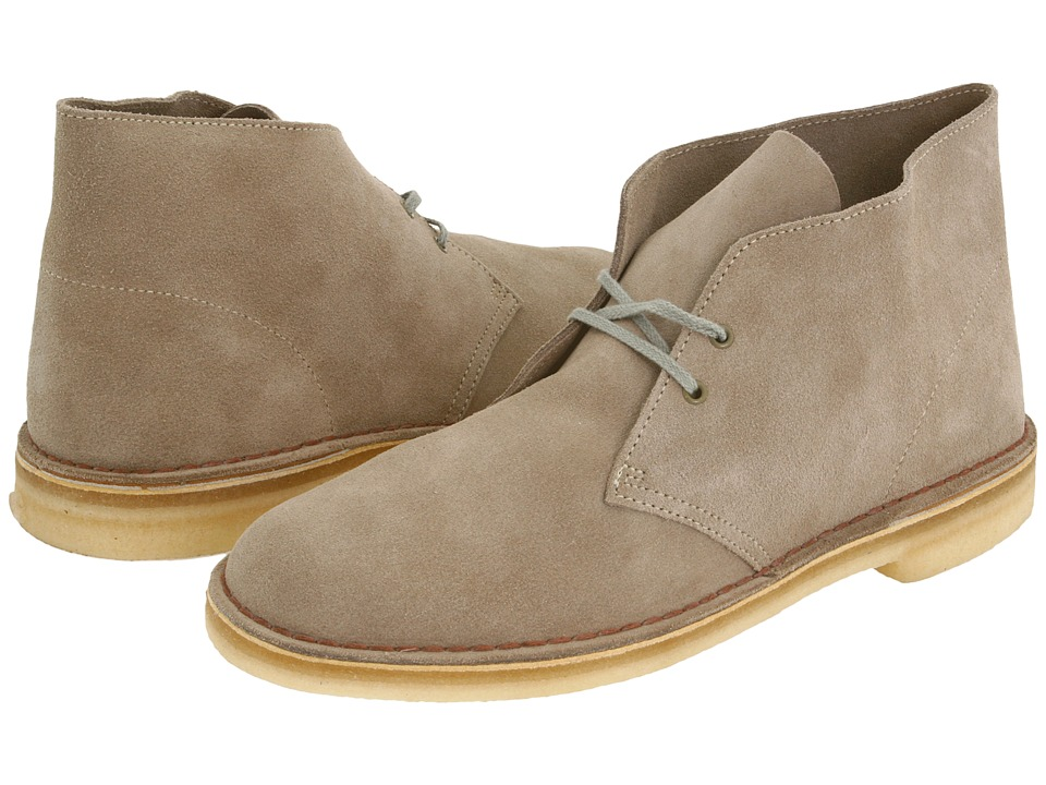 Clarks - Desert Boot (Sand Suede) Men's Lace-up Boots
