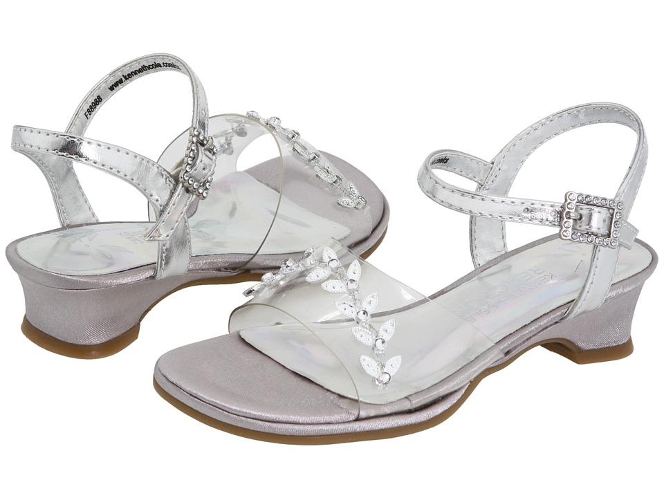Kenneth Cole Reaction Kids Ella Too (Toddler/Little Kid) (Clear/Silver) Girls Shoes