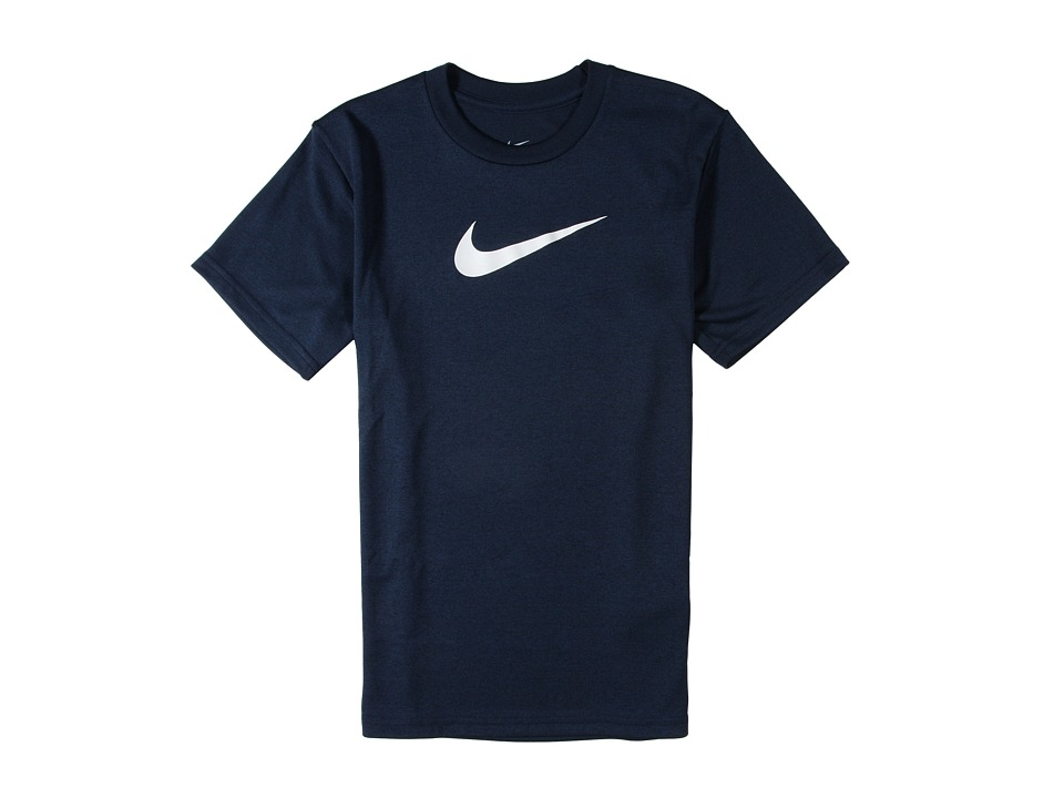 Nike Kids - Essentials Legend S/S Top (Little Kids/Big Kids) (Obsidian/White) Boy's Workout