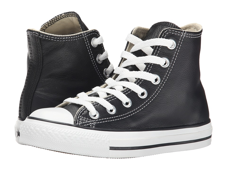 Converse Chuck Taylor All Star Leather Hi (Black/White) Classic Shoes