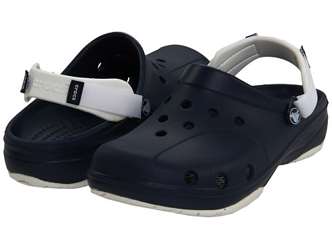 Crocs - Ace Boating - Unisex (Navy/White) Clog Shoes