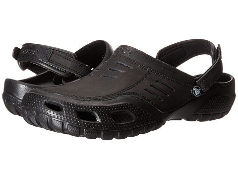 Crocs - Yukon Sport (Black/Black) Men's Clog Shoes