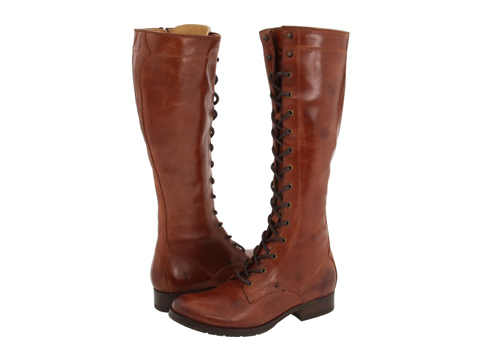 Frye - Melissa Tall Lace (Brown Leather) Women's Lace-up Boots