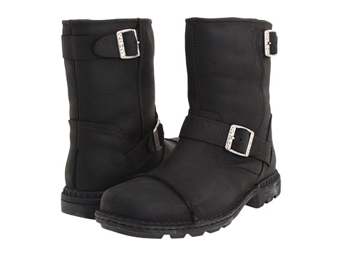 UGG - Rockville II (Black Leather) Men's Boots
