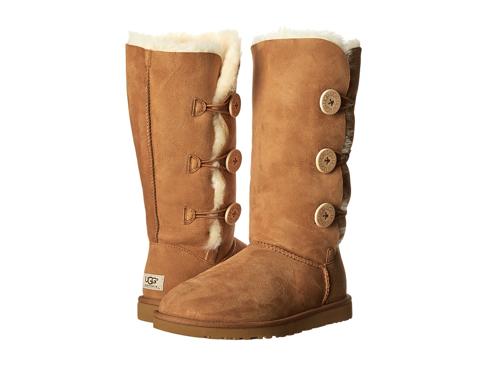 UGG - Bailey Button Triplet (Chestnut Sheepskin) Women's Boots