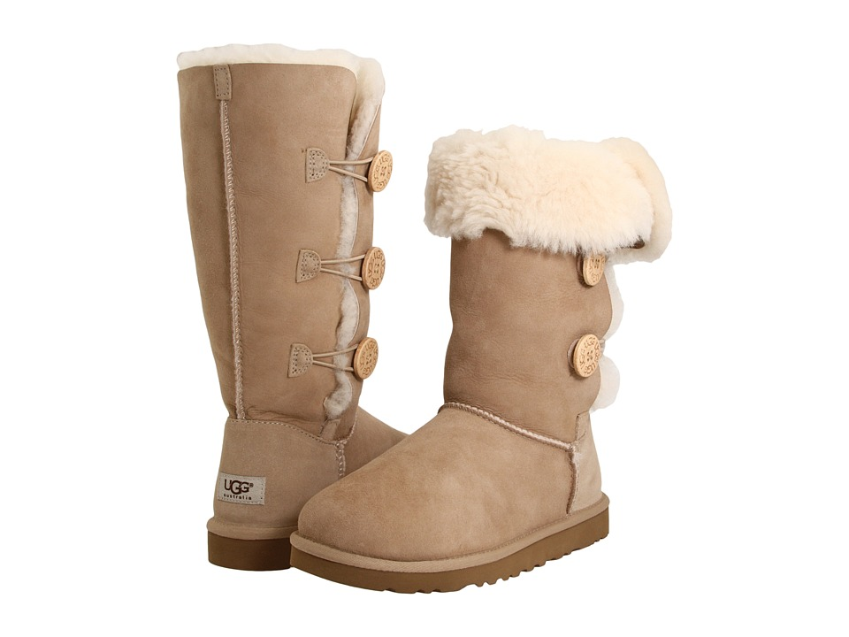 UGG - Bailey Button Triplet (Sand Sheepskin) Women's Boots