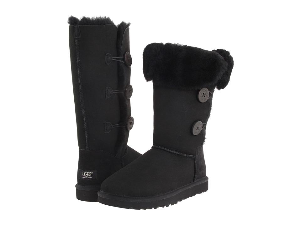 UGG - Bailey Button Triplet (Black Sheepskin) Women's Boots