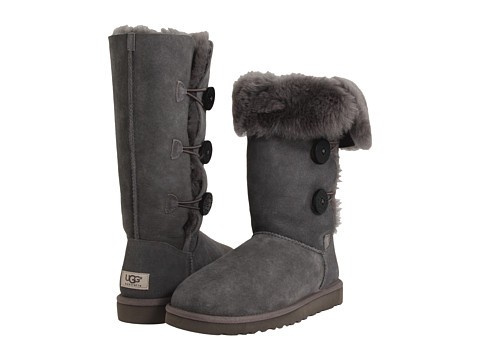 UGG - Bailey Button Triplet (Grey Sheepskin) Women