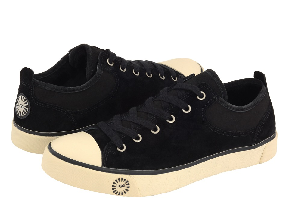 UGG - Evera (Black Suede) Women's Lace up casual Shoes