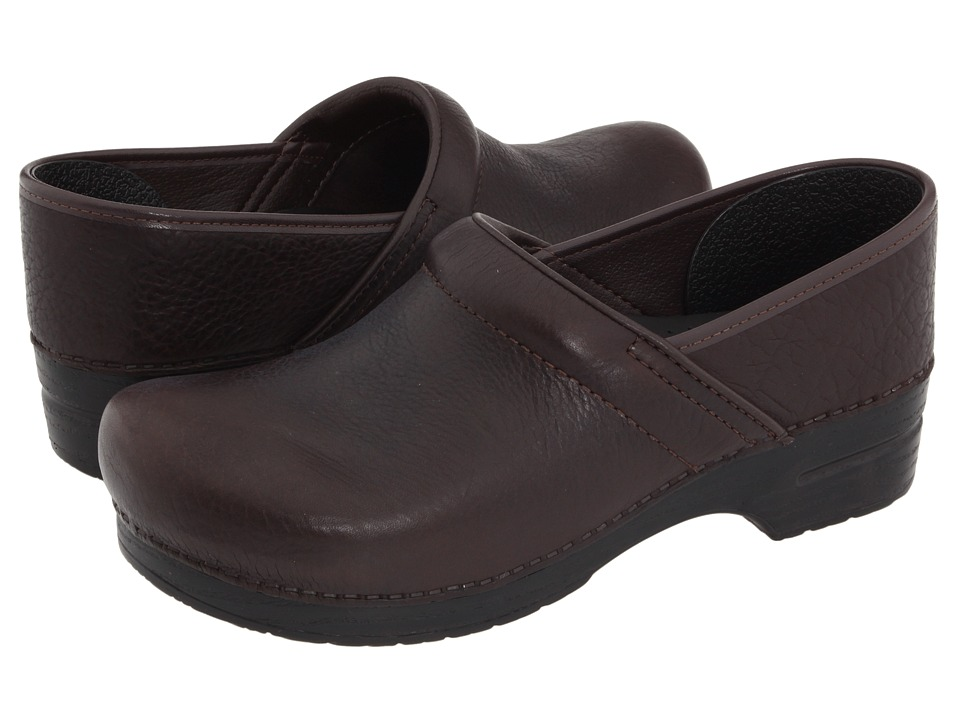 Dansko - Professional Leather (Brown Bullhide Leather) Clog Shoes