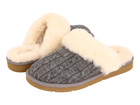 UGG - Cozy Knit (Heathered Grey) Women's Slippers