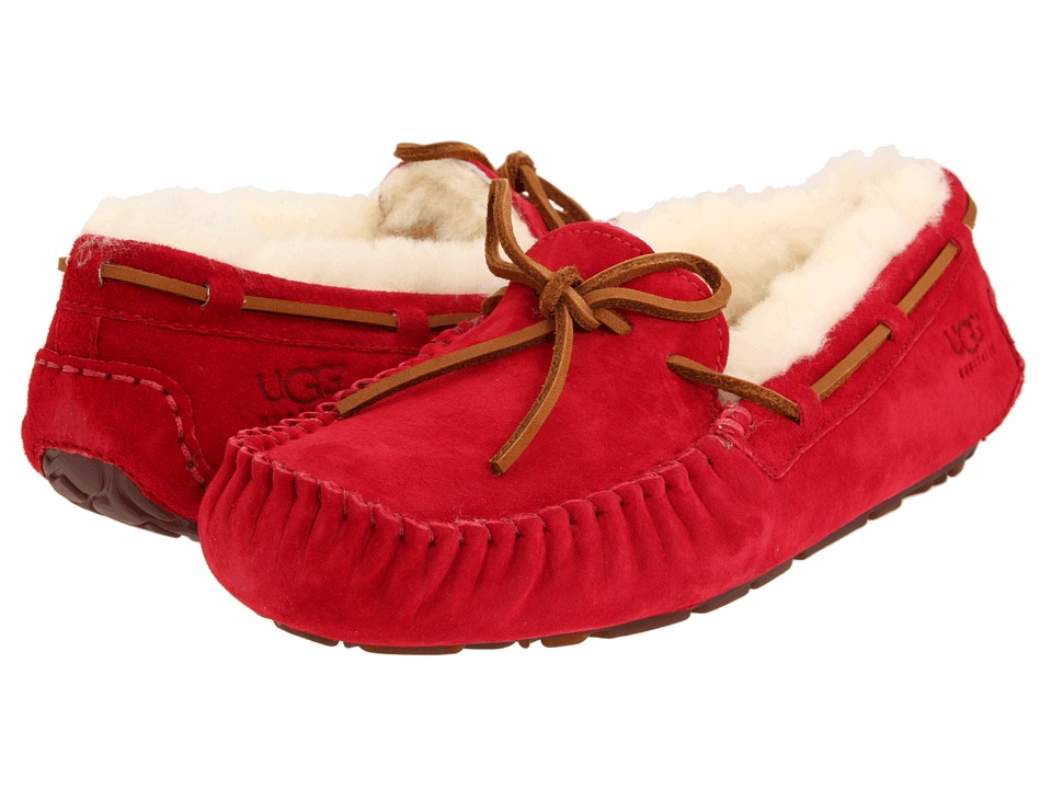 UGG - Dakota (Jester Red Suede) Women's Moccasin Shoes