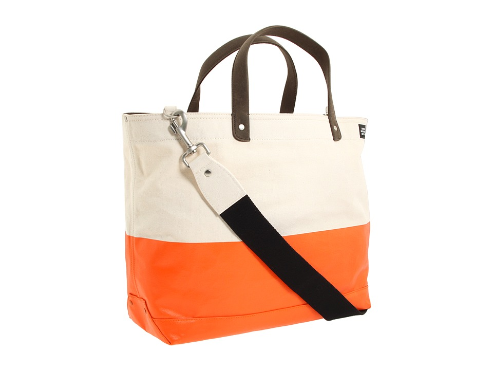 Jack Spade - Dipped Industrial Canvas Coal Bag (Natural/Orange) Tote Handbags
