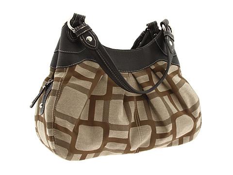 Nine West - Vegas Signs Shopper - Four Poster (Khaki/Dark Brown) Shoulder Handbags