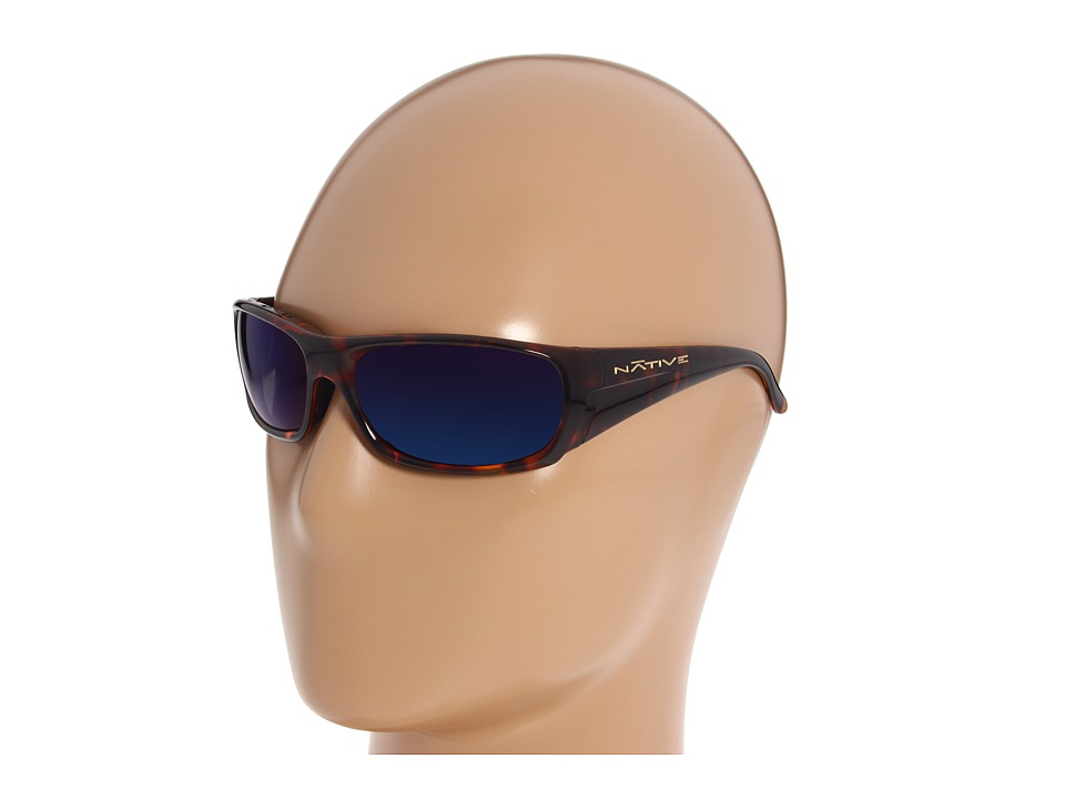 Native Eyewear - Bomber Polarized (Maple Tort/Blue (Grey) Reflex Polarized Lens) Sport Sunglasses