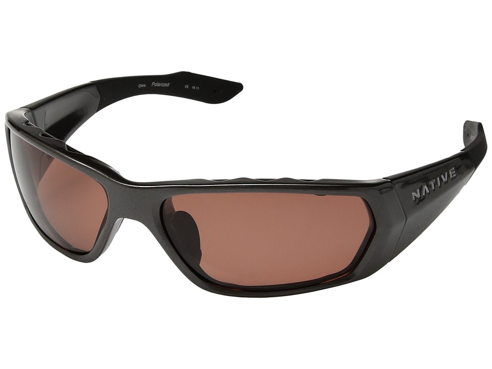 Native Eyewear Endo Polarized (Gunmetal/Copper Polarized Lens) Sport Sunglasses