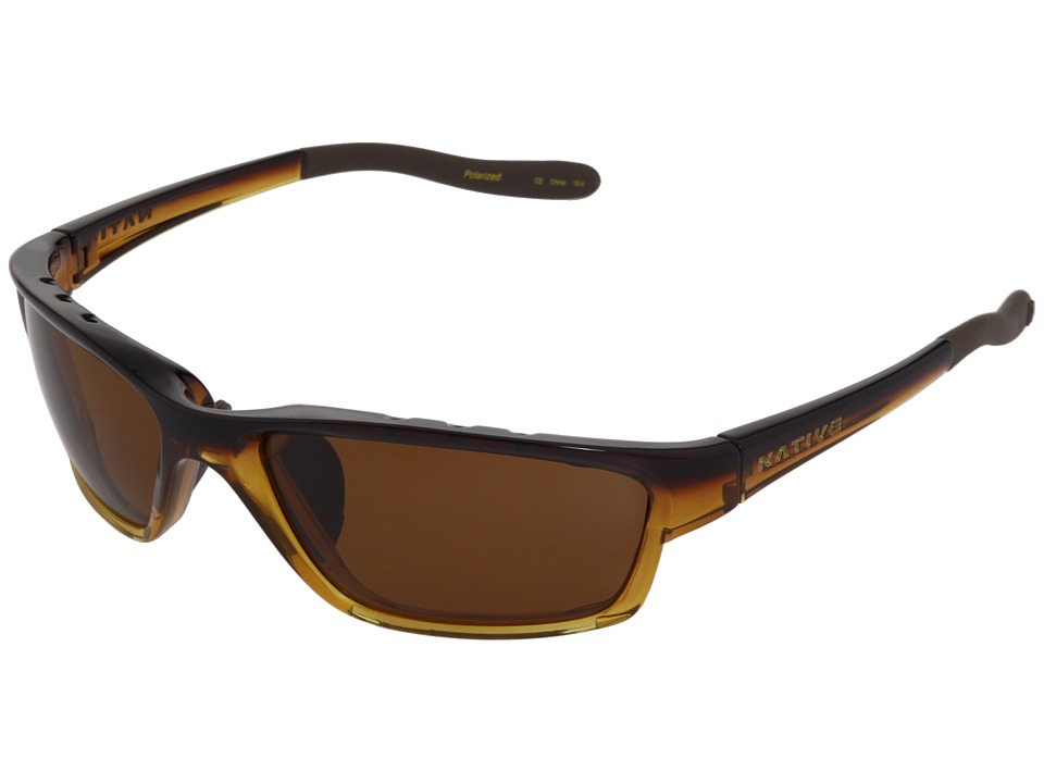 Native Eyewear - Versa Polarized (Pale Ale Fade/Brown Polarized Lens) Sport Sunglasses