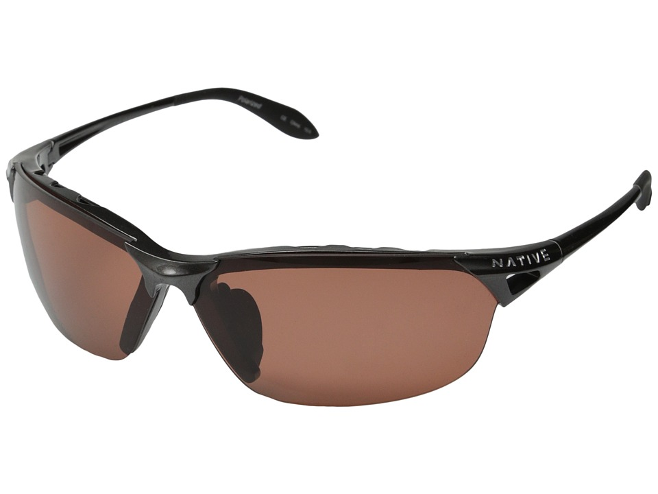 Native Eyewear - Vigor Polarized (Gunmetal/Copper Polarized Lens) Sport Sunglasses