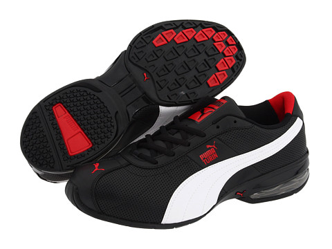 PUMA - Cell Turin Perf (Black/White/Ribbon Red) Men's Shoes