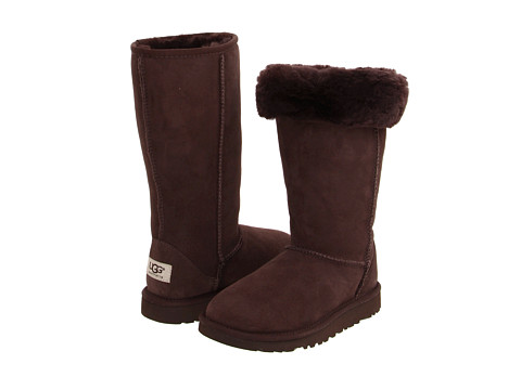 UGG Kids - Classic Tall (Little Kid/Big Kid) (Chocolate) Girls Shoes