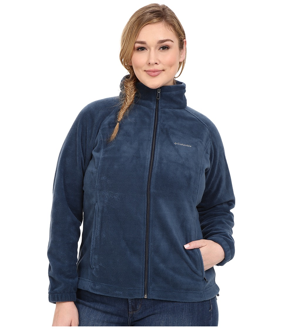 Columbia - Benton Springs Full Zip (Columbia Navy) Women's Coat