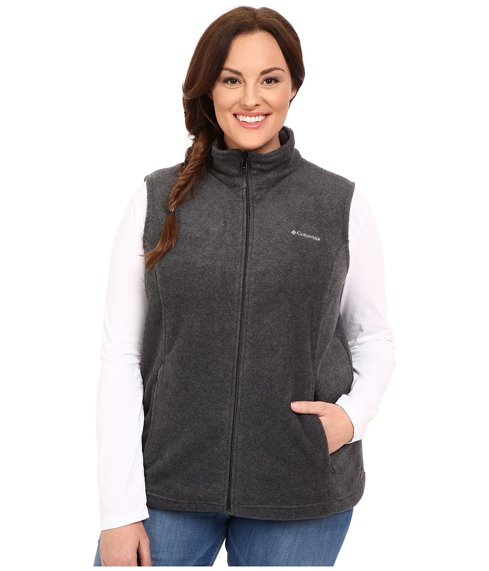 Columbia - Benton Springs Vest - 1XL-3XL (Charcoal) Women's Jacket
