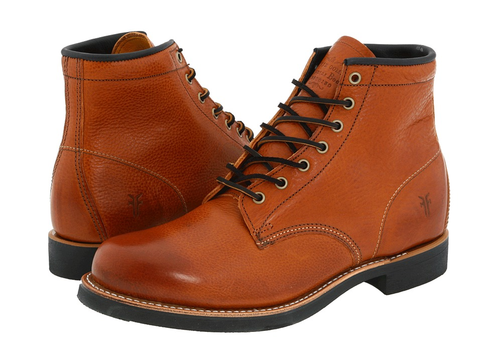 Frye - Arkansas Mid Lace (Cognac Full Grain Leather) Men