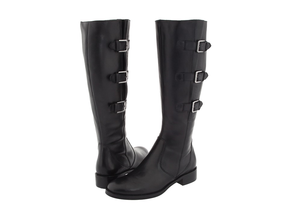 ECCO - Hobart Buckle 25 MM Boot (Black Riviera Leather) Women's Zip Boots