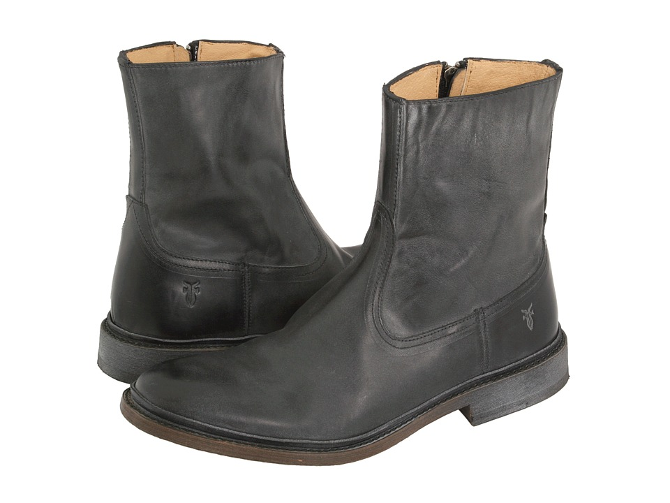 Frye - James Inside Zip (Black) Men's Dress Zip Boots