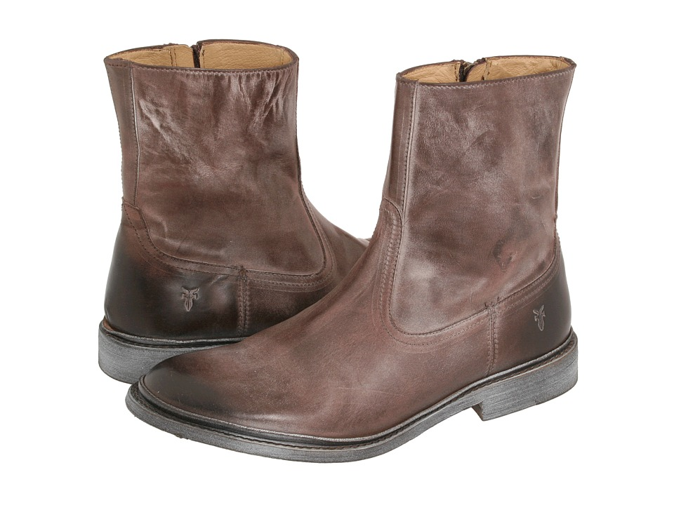 Frye James Inside Zip (Brown) Men