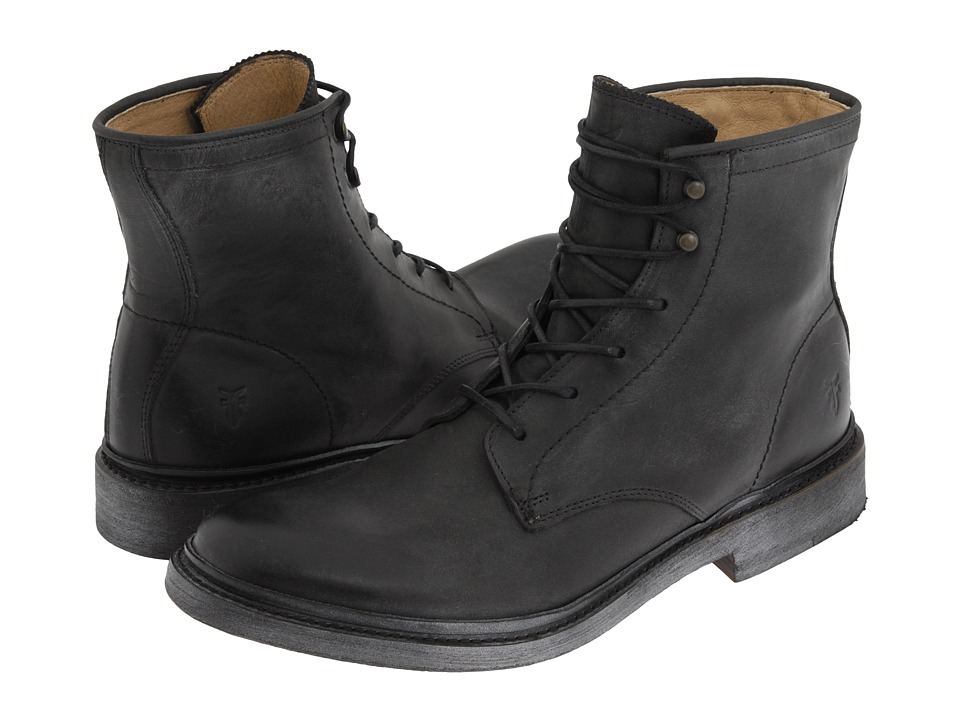 Frye - James Lace Up (Black Leather) Men's Lace-up Boots