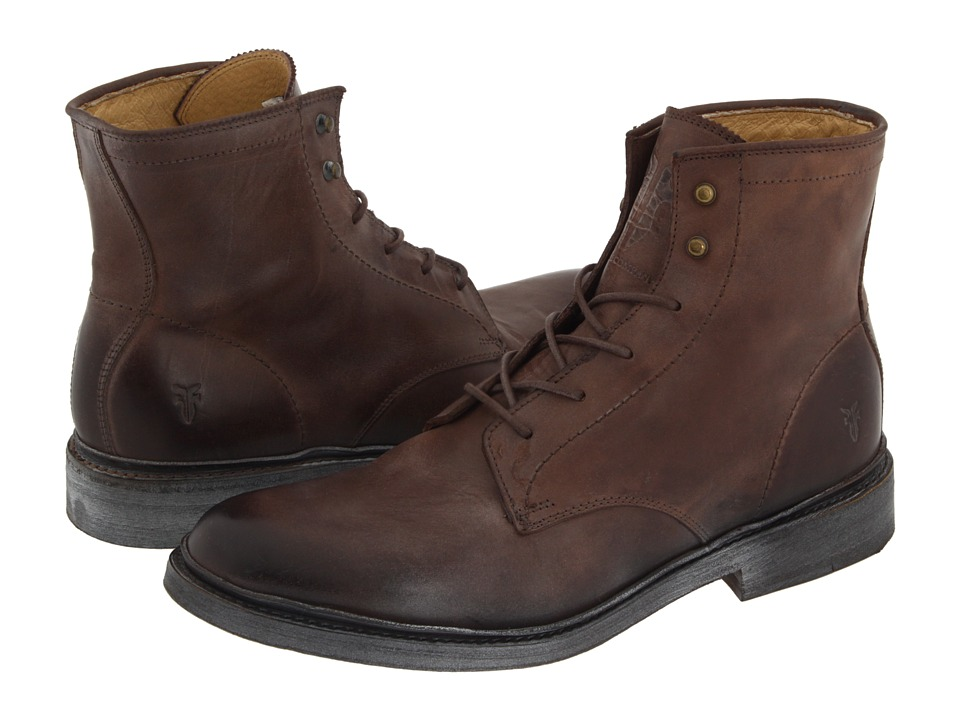 Frye - James Lace Up (Brown Leather) Men's Lace-up Boots