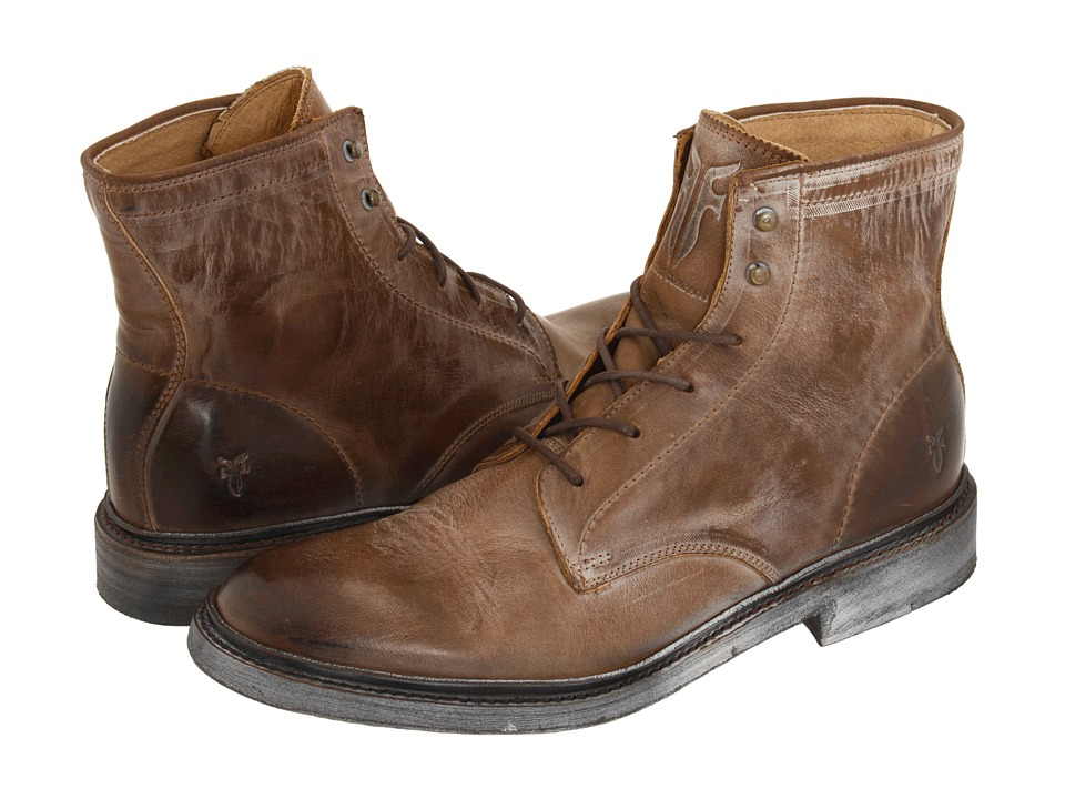Frye - James Lace Up (Tan Leather) Men's Lace-up Boots
