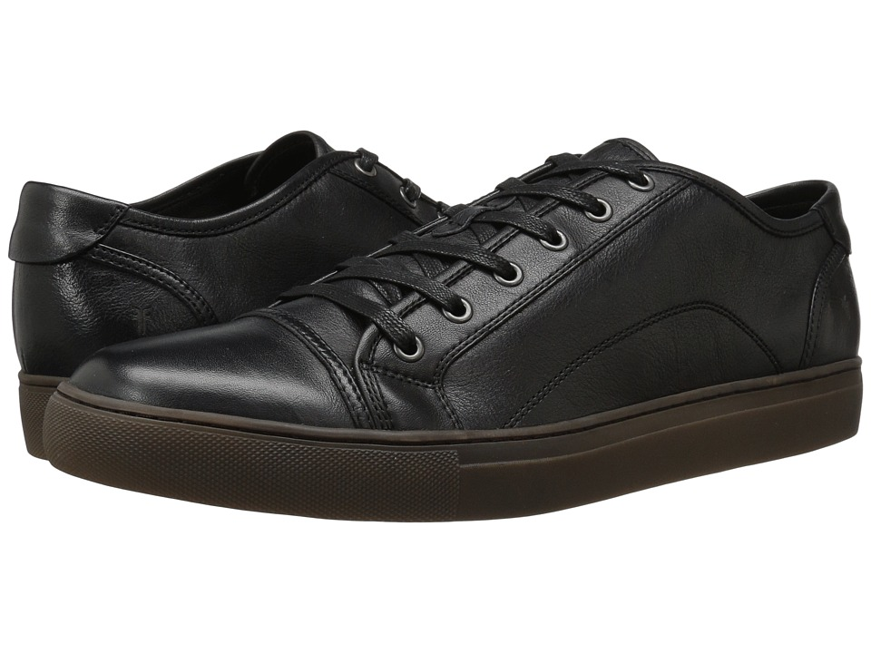 Frye - Justin Low Lace (Black Vintage Leather) Men's Lace up casual Shoes