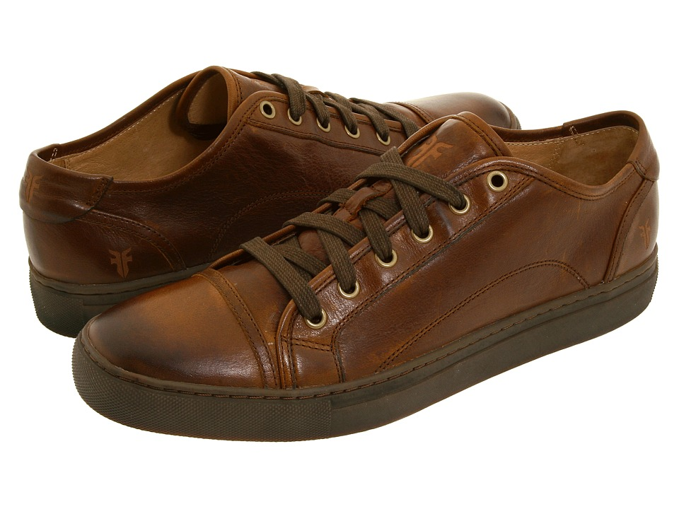 Frye - Justin Low Lace (Brown Vintage Leather) Men's Lace up casual Shoes