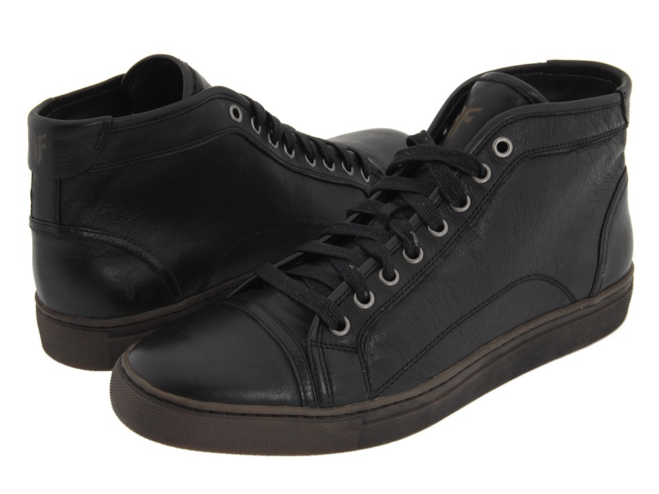 Frye - Justin Mid Lace (Black Vintage Leather) Men's Lace up casual Shoes