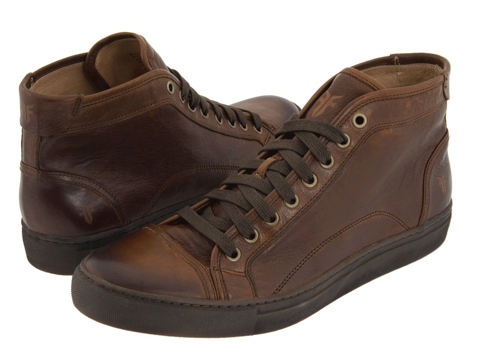 Frye - Justin Mid Lace (Brown Vintage Leather) Men's Lace up casual Shoes
