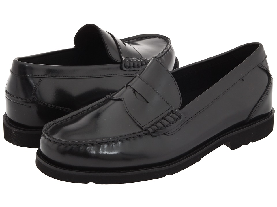 Rockport - Oak Knoll - Shakespeare Circle (Black Brush-Off Leather) Men's Slip-on Dress Shoes