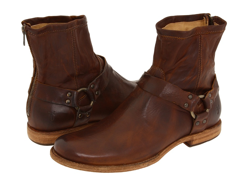Frye - Phillip Harness (Cognac Vintage Leather) Men's Pull-on Boots