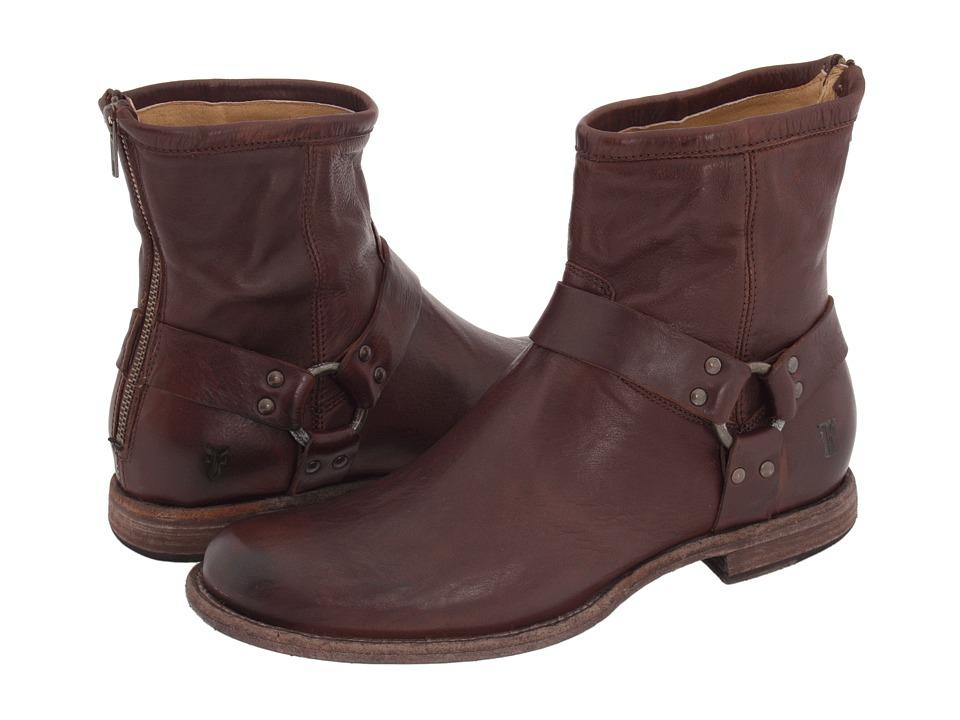 Frye - Phillip Harness (Dark Brown Vintage Leather) Men's Pull-on Boots