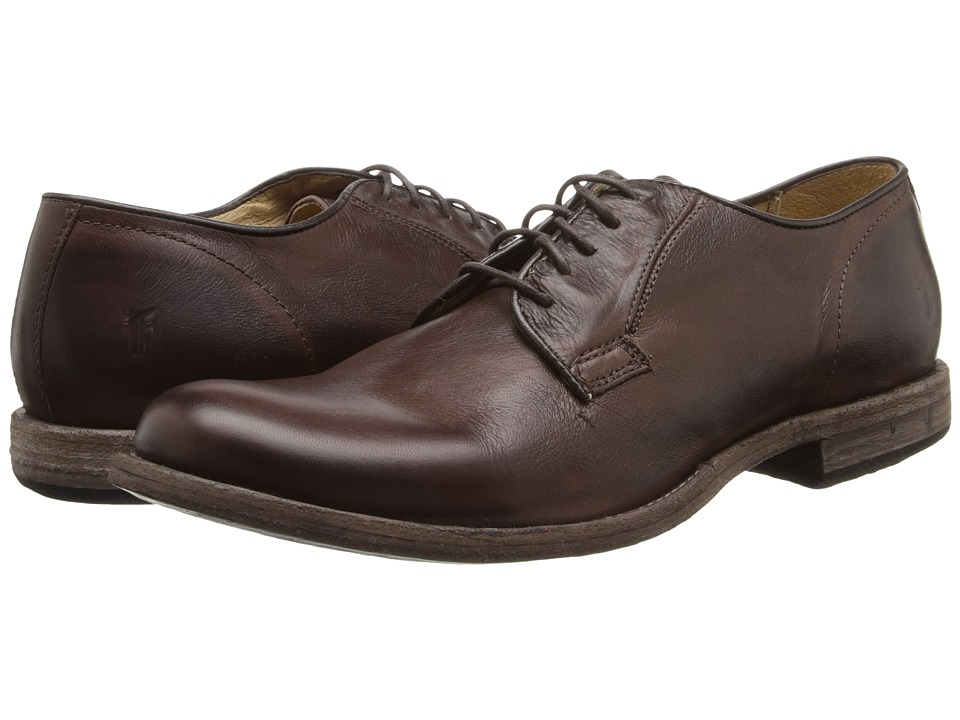 Frye - Phillip Oxford (Dark Brown Vintage Leather) Men's Lace up casual Shoes