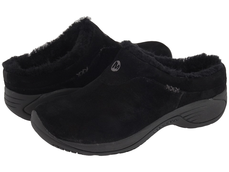 Merrell - Encore Ice (Black Suede Leather) Women's Clog Shoes