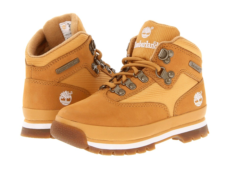 Timberland Kids - Euro Hiker (Little Kid) (Wheat/Wheat) Boys Shoes