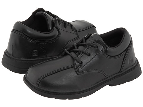 Sperry Top-Sider Kids - Nathaniel (Toddler/Little Kid) (Black Leather) Boys Shoes